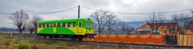 Speedy colored train stock photo