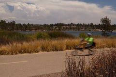 Speedy Cyclist Stock Photography