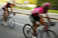 Speedy cyclists Stock Photo