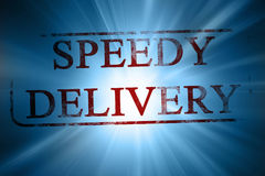 Speedy delivery Stock Image