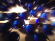 Speedy drops. Sensation of speed with blue glass drops Stock Photo