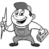 Speedy Electrician Illustration Stock Images