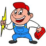 Speedy Electrician. A vector illustration of a Speedy Electrician Royalty Free Stock Image
