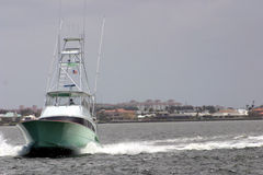 Speedy Fishing boat Yacht Stock Image