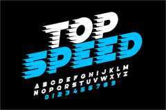 Speedy font, Stock Illustration