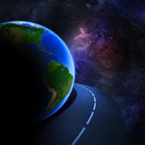 Speedy highway around Earth Royalty Free Stock Photo