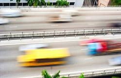 Speedy highway in Singapore Stock Photo