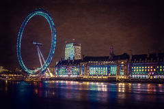 Speedy London Eye Royalty Free Stock Images
