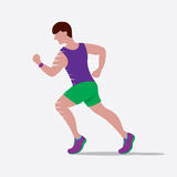 Speedy Male Runner. Royalty Free Stock Photos