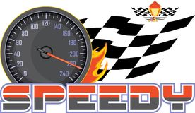 Speedy. Sign for design Royalty Free Stock Photo