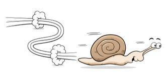 Speedy snail. Vector illuatration of a speedy snail Royalty Free Stock Photography