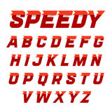 Speedy style alphabet Royalty Free Stock Photography