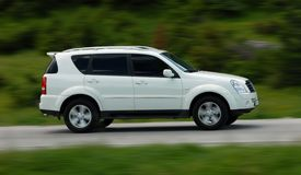 Speedy SUV Royalty Free Stock Image