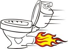 Speedy toilet Royalty Free Stock Image