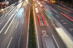 Speedy traffic on road Royalty Free Stock Photos