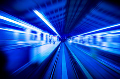 Speedy trains. Passing train station Royalty Free Stock Image