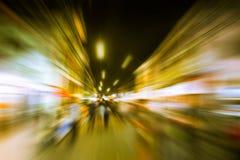 Speedy urban lifestyle night life. Stock Images
