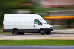 Speedy van royalty free stock image