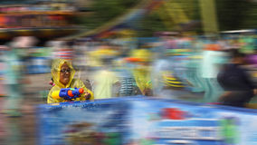 Speedy water fight Stock Photography