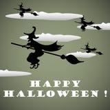 Speedy witches Stock Image