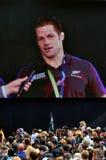 Speek de Richie McCaw à la foule en Victoria Park Auckland, nouveau Z Photo libre de droits