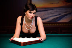 Speel biljart! Royalty-vrije Stock Foto's