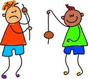 Speel conkers stock illustratie