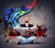 Speel de piano Stock Foto's