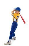 Speel de sporthonkbal of softball van de jongen stock foto