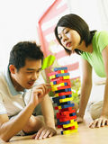 Speel de stapel houten spelen van het paar Royalty-vrije Stock Afbeelding