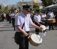 Het spelen van de band trommels Royalty-vrije Stock Foto