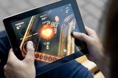 Speel de Verzameling van de Dood op Appel Ipad2 Stock Afbeelding