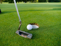 Speel golf Stock Foto's