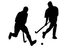 Speel het hockey Royalty-vrije Stock Foto's