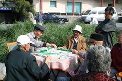 Speel mahjong spel Stock Afbeeldingen