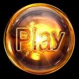Speel pictogramglas. Stock Fotografie
