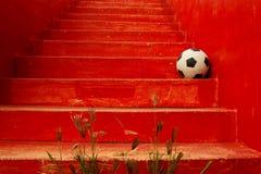 Speel voetbal - reis Royalty-vrije Stock Fotografie