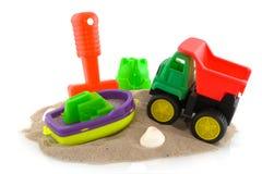 Speelgoed bij het strand royalty-vrije stock afbeeldingen