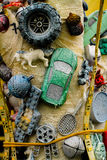 Speelgoed die op een tak hangen Stock Foto's