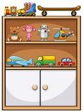 Speelgoed en plank Stock Afbeeldingen