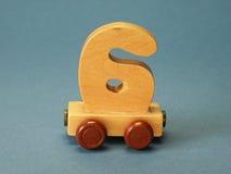 Speelgoed, het schatten trein Royalty-vrije Stock Afbeeldingen