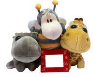 Speelgoed met rood frame stock foto's