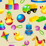 Speelgoed naadloos patroon Royalty-vrije Stock Fotografie