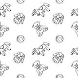 Speelgoed Naadloos patroon royalty-vrije illustratie