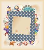 Speelgoed, snoepjes & document Stock Afbeelding