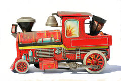 Speelgoed-stoom locomotief Royalty-vrije Stock Foto's