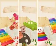 Speelgoed, suikergoed & kinderjarengeheugen Stock Fotografie