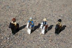 Speelgoed van Westelijke Mensen op Paarden Stock Afbeelding
