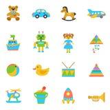 Speelgoed Vlak Pictogram Royalty-vrije Stock Afbeeldingen
