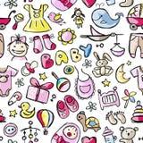 Speelgoed voor babyjongen, naadloos patroonontwerp Stock Foto's